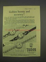 1955 Rolex Tudar Watch Ad - Golden Beauty