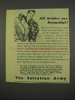 1955 Salvation Army Ad - All Brides Are Beautiful
