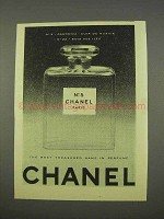1955 Chanel No. 5 Perfume Ad - Most Treasured Name