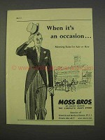 1955 Moss Bros Morning Suits Ad - An Occasion