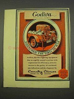 1955 Country Climax Godiva Fire-Fighting Pump Ad