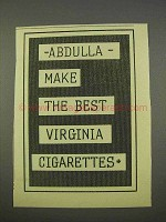 1955 Abdulla Virginia Cigarettes Ad - Make the Best
