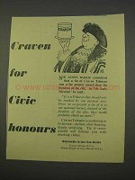 1955 Craven Tobacco Ad - For Civic Honours