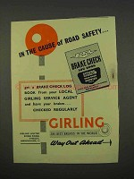 1955 Girling Brakes Ad - The Cause of Road Safety