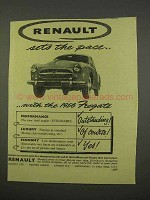 1956 Renault Fregate Car Ad - Sets the Pace