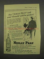 1955 Noilly Prat Vermouth Ad - French Be Perfect