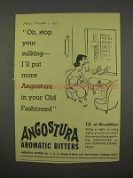1955 Angostura Aromatic Bitters Ad - Stop Sulking