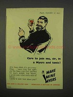 1955 Myers Rum Ad - Care To Join Me Sir?