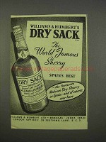 1955 Williams & Humbert's Dry Sack Sherry Ad