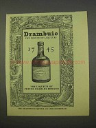 1955 Drambuie Ad - The Prince of Liqueurs