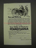 1955 Pennsylvania Tourism Ad - Fun and History