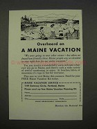 1955 Maine Tourism Ad - Overheard on Vacation