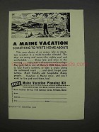 1955 Maine Tourism Ad - Something to Write Home About