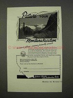 1955 Montana Tourism Ad - Picture Your Vacation