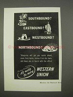 1955 Western Union Telegram Ad - Southbound?