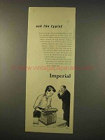 1954 Imperial 65 Typewriter Ad - Ask the Typist