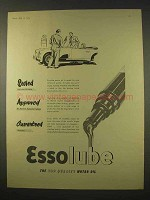 1954 Esso Essolube Motor Oil Ad - Approved