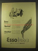 1954 Esso Essolube Motor Oil Ad - Sealed, Approved