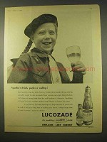 1954 Lucozade Drink Ad - Agatha's Drink Packs a Wallop