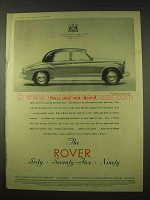1954 Rover Car Ad - Seen and Not Heard