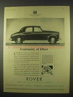 1954 Rover Car Ad - Continuity of Effort