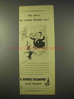 1954 Double Diamond Ale Ad - So Nice to Come Home To
