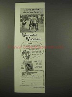 1954 Wisconsin Tourism Ad - Fun For the Whole Family