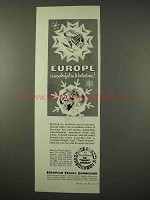 1954 European Travel Comission Ad - Wintertime