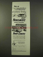 1954 Trailways Thru-Liners Bus Ad - Scenery Level