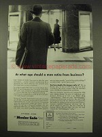 1954 Mosler Safe Ad - At What Age Should Man Retire?