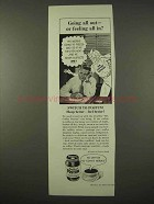 1954 Instant Postum Drink Ad - Going All Out