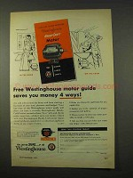 1954 Westinghouse Handy-Craft Motor Ad - Saves Money