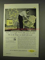 1954 Dow Penta Wood Preservative Ad - Years of Life