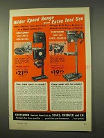 1954 Craftsman Band Saw, Drill Press Ad - Wider Speed