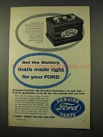 1954 Ford Battery Ad - The Battery That's Made Right