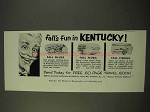 1954 Kentucky Tourism Ad - Fall's Fun