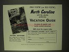1954 North Carolina Tourism Ad - Pre-View or Re-View