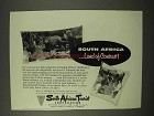 1954 South Africa Tourism Ad - Land of Contrast