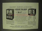 1954 Capehart Cortland, Bedford Television Ad!