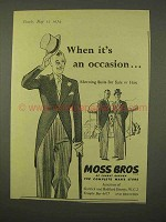 1954 Moss Bros Morning Suits Ad - It's An Occasion