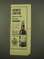 1954 Jerez Cream Old Oloroso Sherry Ad