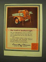 1954 Coventry Climax Godiva Featherweight Fire Pump Ad!