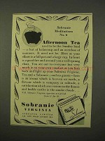 1954 Sobranie Virginia Cigarettes Ad - Afternoon Tea