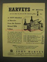 1954 Harveys Sherry Ad - Famous Bristol Milk Cellars