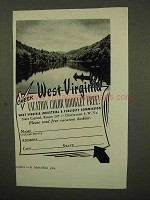 1954 West Virginia Tourism Ad - Check