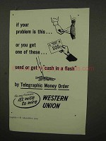 1954 Western Union Telegraphic Money Order Ad