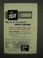 1954 TCA Airline Ad - One of World's Great Airlines