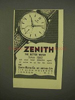 1954 Zenith Watch Ad - The Better Watch