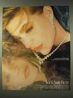1988 Black, Starr & Frost Jewelry Ad - Diamonds