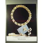 1988 Tiffany & Co. Ribbon Choker, Diamond Brooch Ad